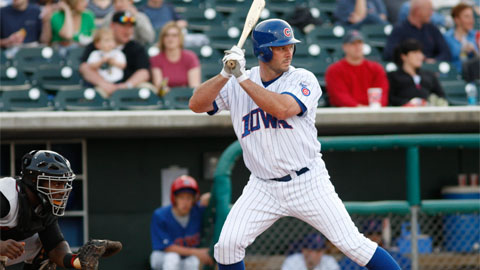 Jason Dubois hit a pair of three-run homers in Albuquerque on Wednesday.